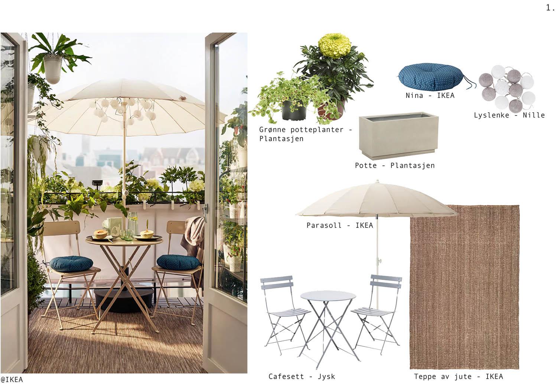 hage, interiør, utemøbler, ramsoskar