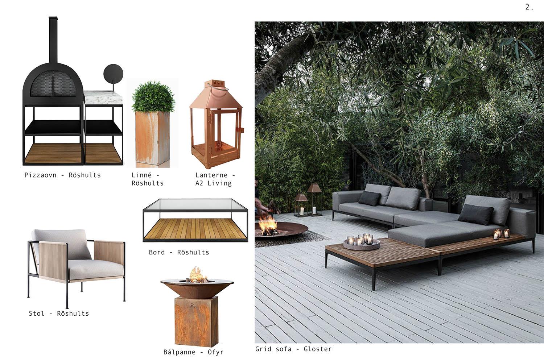 utemøbler, ramsoskar, interiør