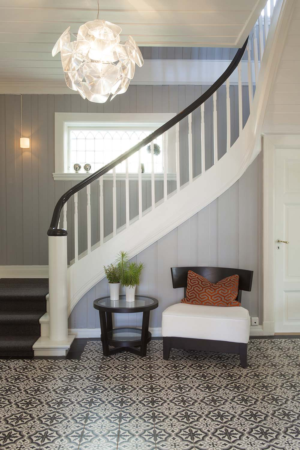 foaje, trappeoppgang, trapp, interiør