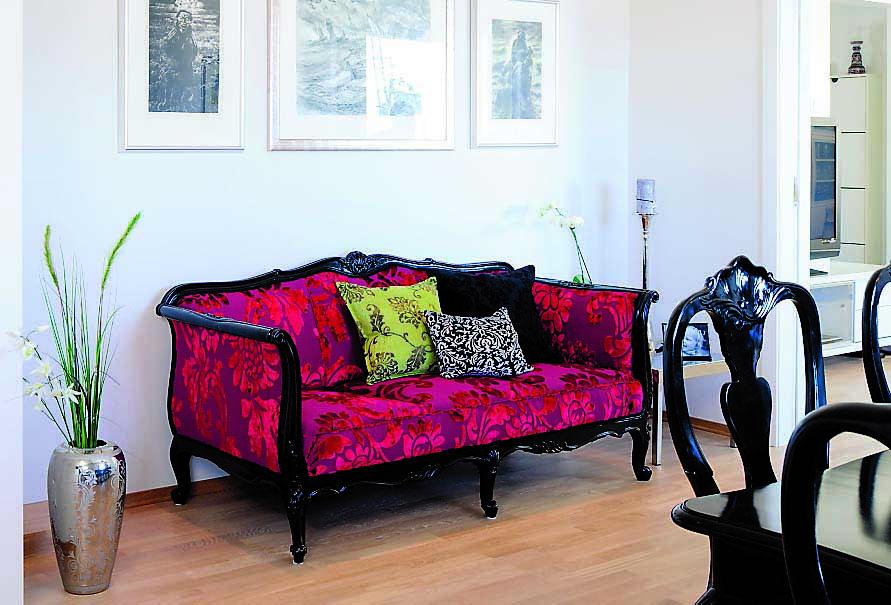 interiør, sofa, antikk