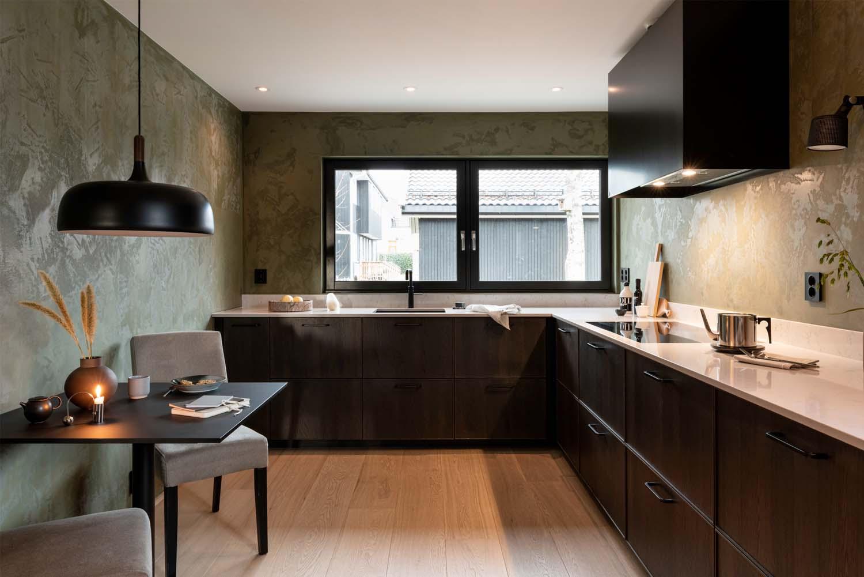 Maskulint design av kjøkken